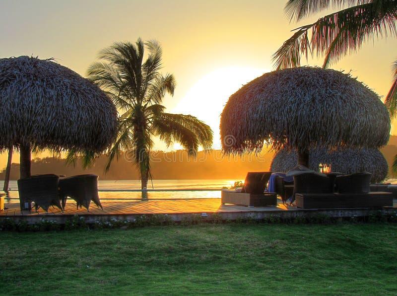 Coucher du soleil à et x22 ; Venao& x22 ; II image libre de droits