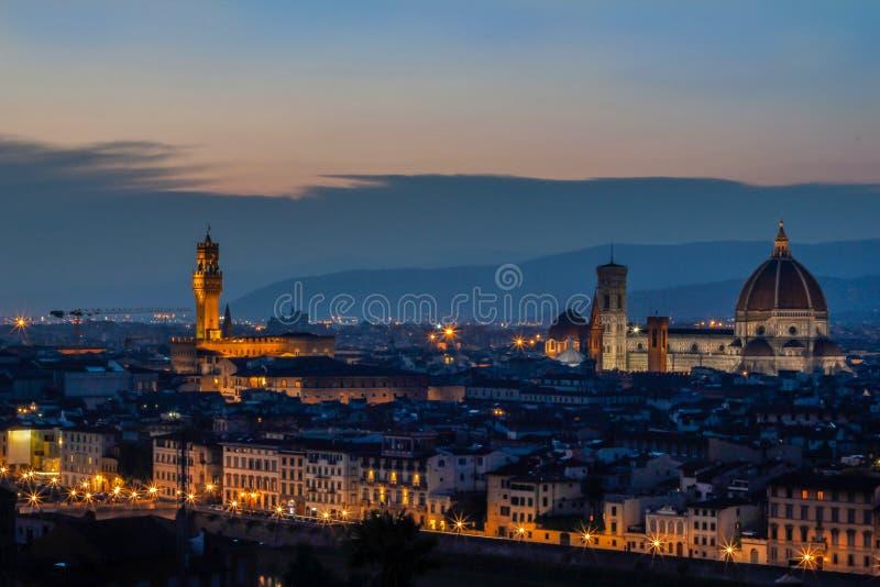 Coucher du soleil à Florence photos libres de droits