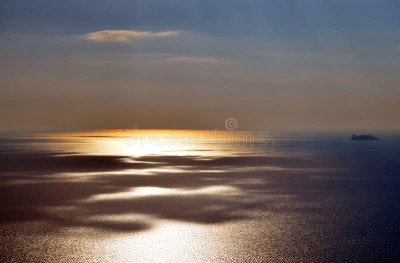 Coucher du soleil à Istanbul, Turquie photo stock