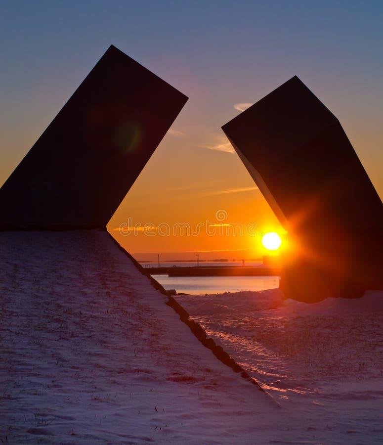 Coucher du soleil à Kingston, Ontario, Canada photos libres de droits