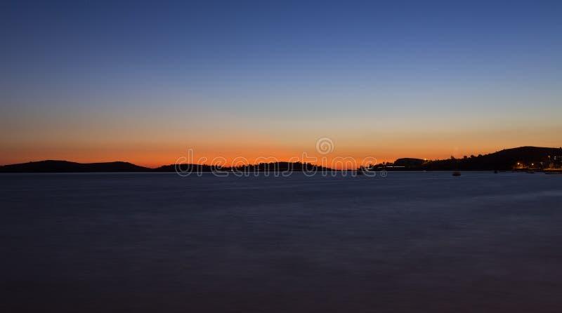 Coucher du soleil à la FOCA (Fokaiai) image libre de droits