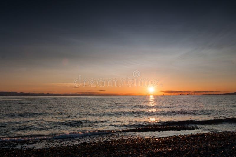 Coucher du soleil à la plage de Roberts de point photos libres de droits