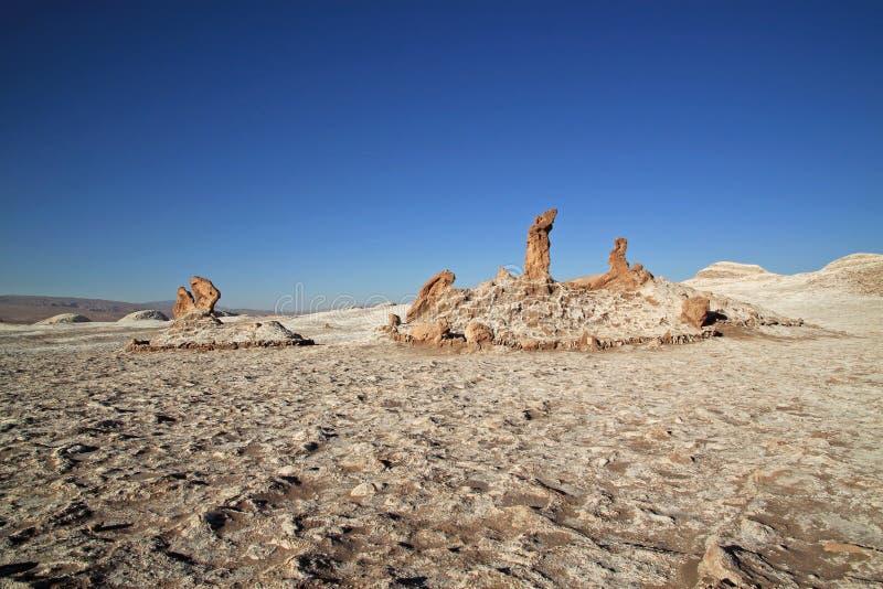 Coucher du soleil à la vallée de la lune, San Pedro de Atacama, Chili photographie stock libre de droits