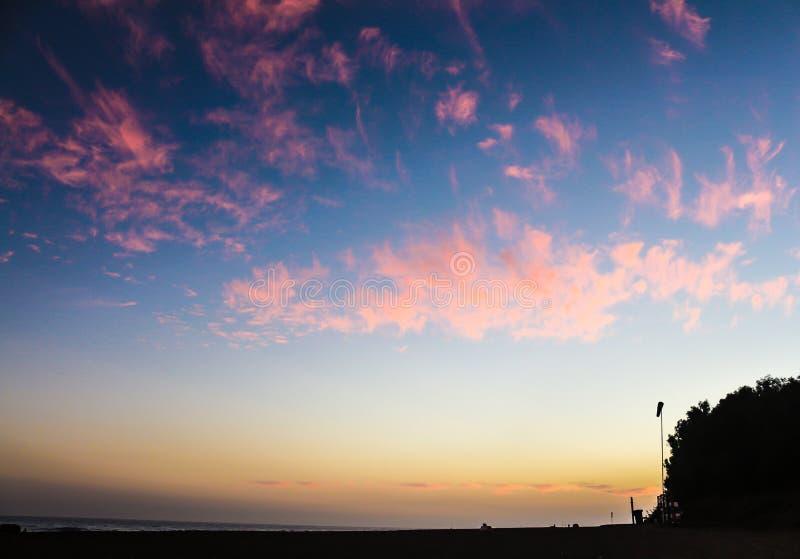 Coucher du soleil à Marbella image libre de droits