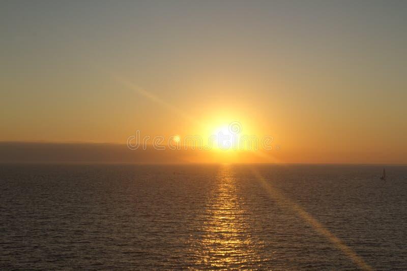 Coucher du soleil à mazatlan, Mexique images libres de droits