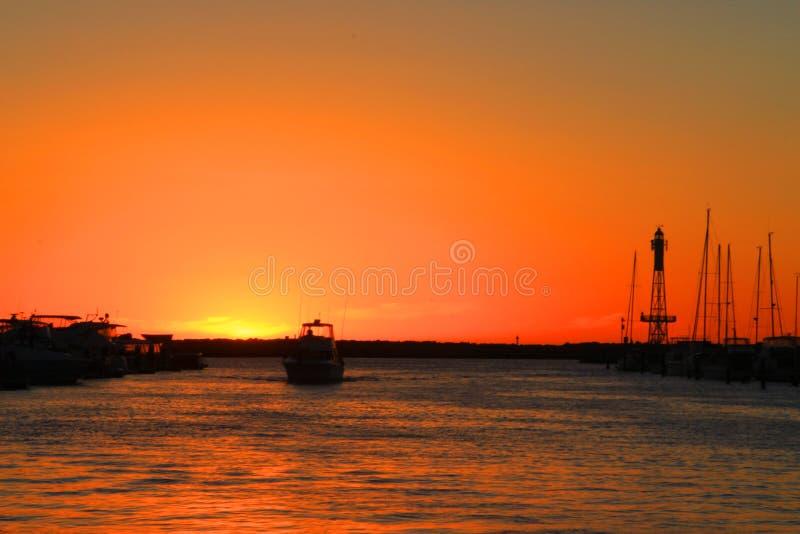 Coucher du soleil à Perth photo libre de droits