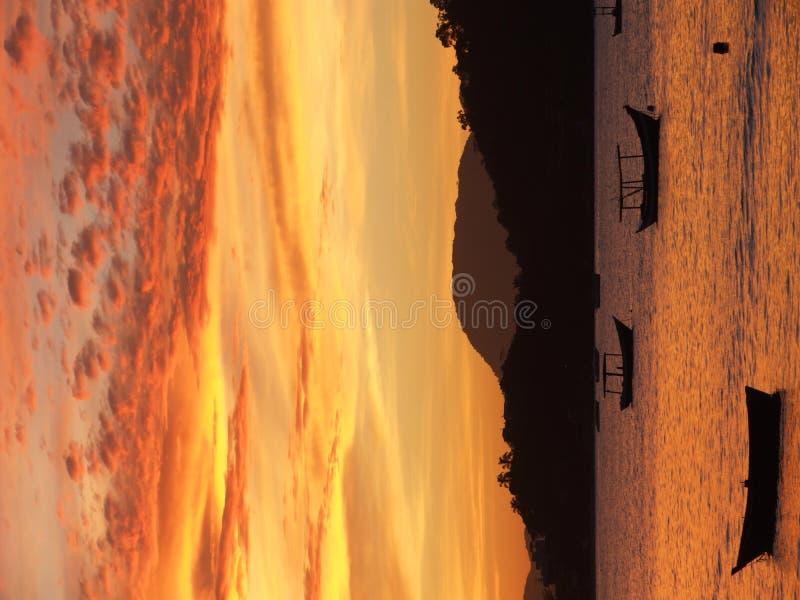 Coucher du soleil à Porto Belo photographie stock