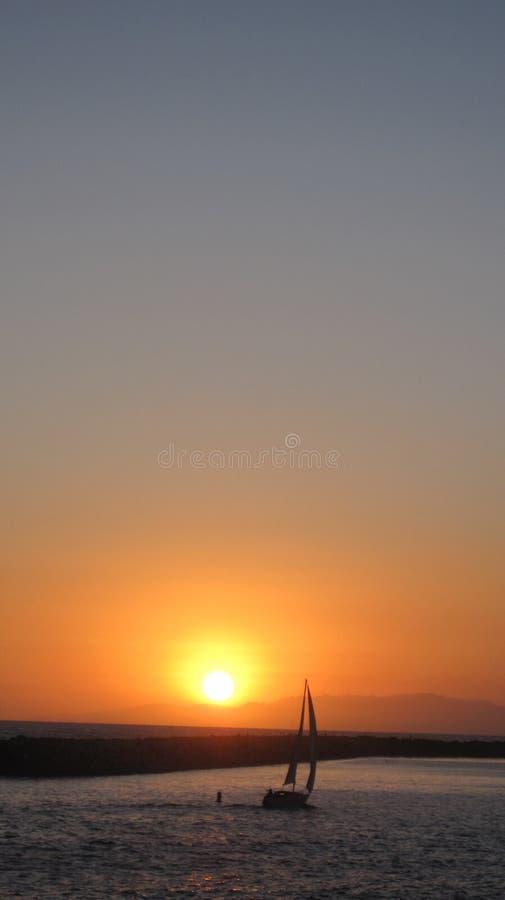 Coucher du soleil à Redondo Beach image libre de droits