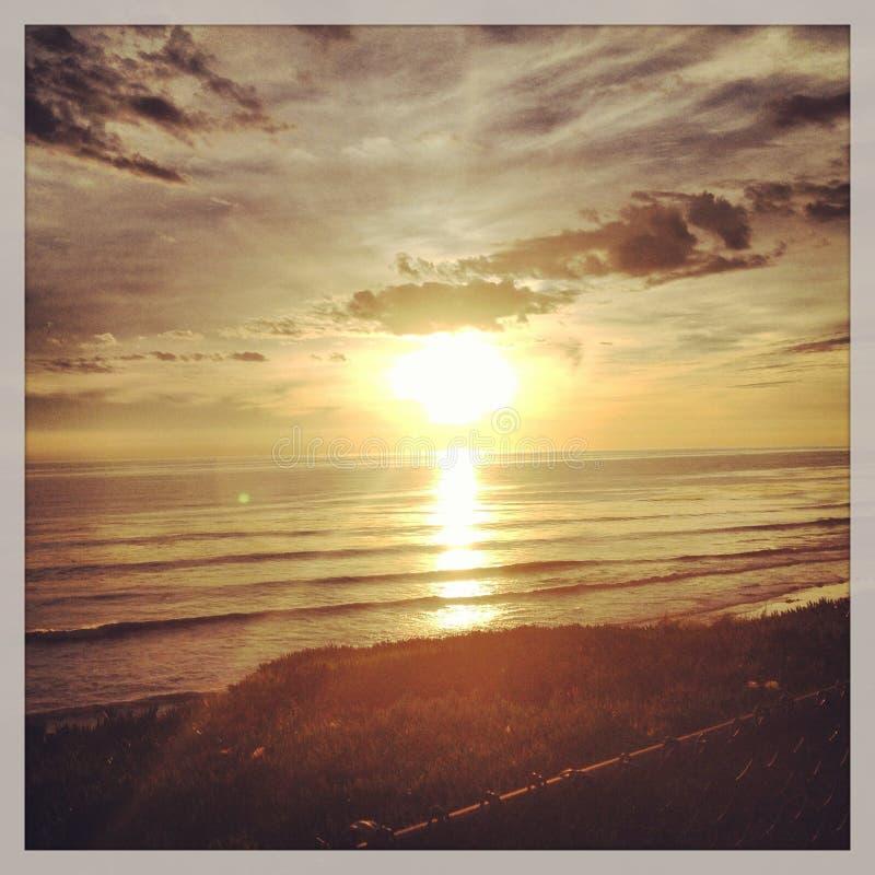 Coucher du soleil à Santa Barbara photographie stock libre de droits