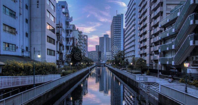 coucher du soleil à Tokyo images libres de droits