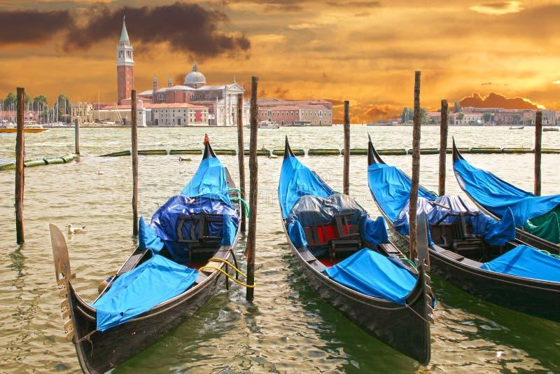 Coucher du soleil à Venise, Italie photographie stock libre de droits
