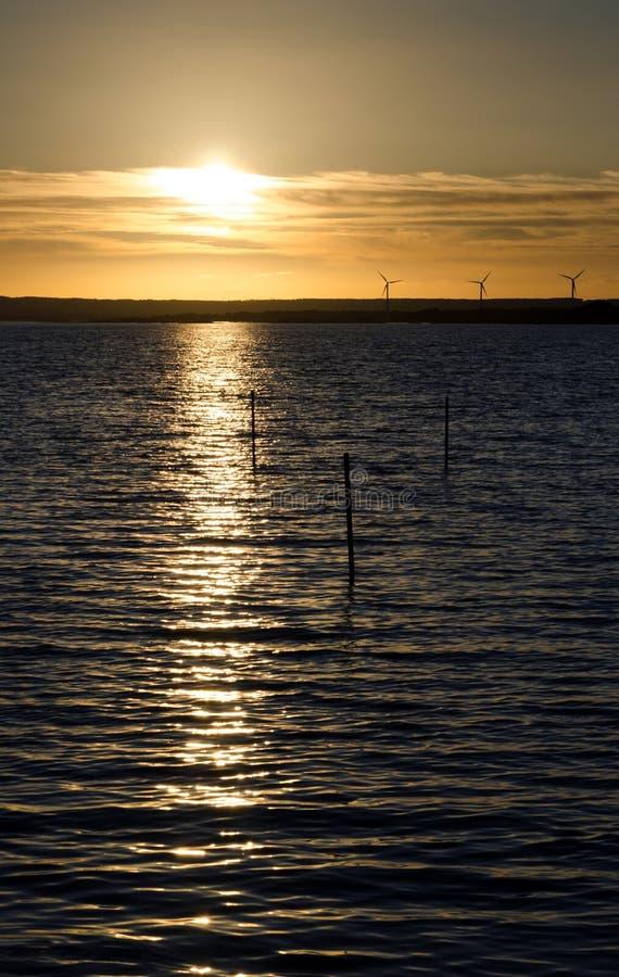 Coucher du soleil écologique photo stock
