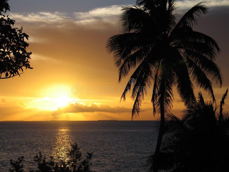 Coucher du soleil étonnant photos libres de droits