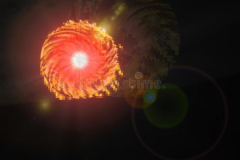 Coucher du soleil étranger illustration de vecteur