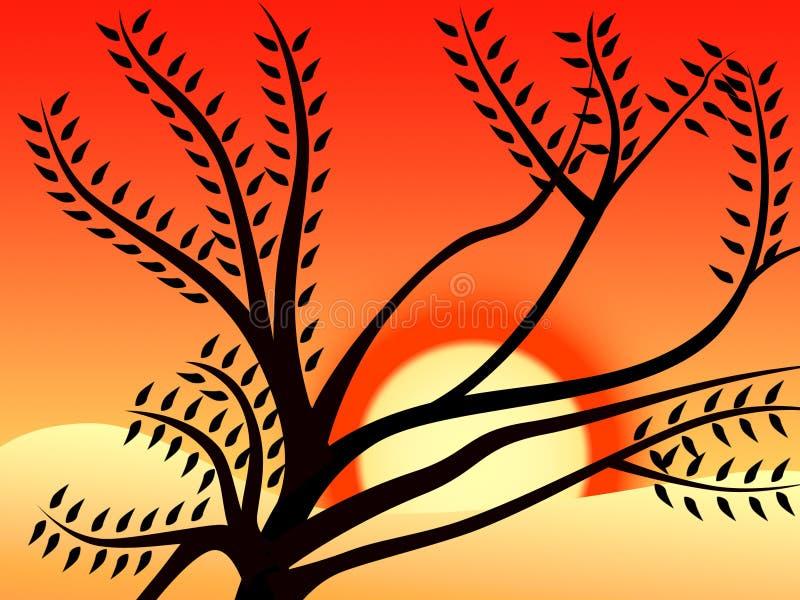 Coucher du soleil 1 illustration libre de droits