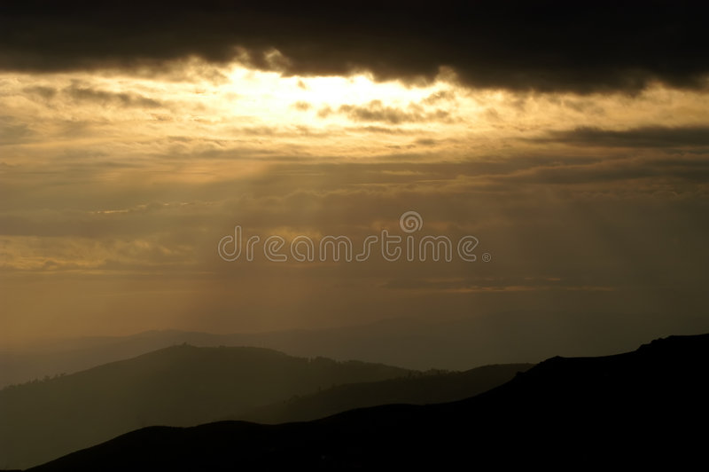 Coucher du soleil photo stock
