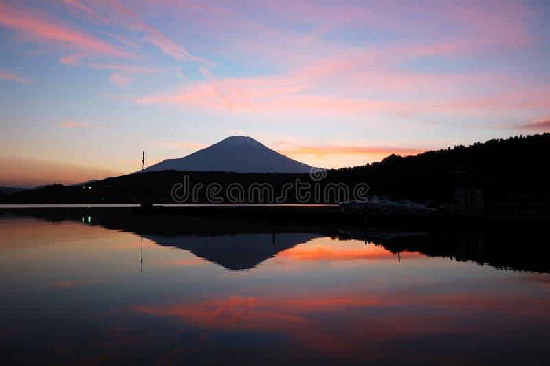 Coucher du soleil 2 de Fuji de support images libres de droits