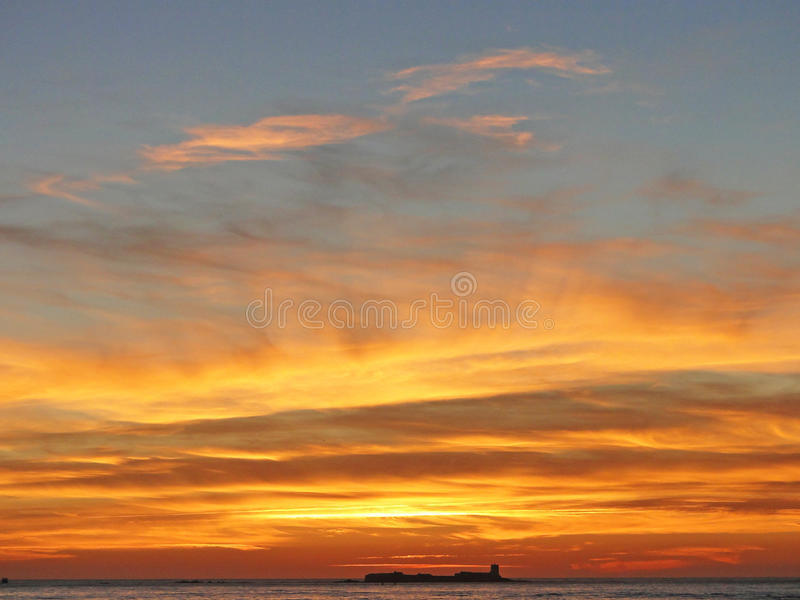 Download Coucher du soleil photo stock. Image du plage, couleurs - 45372052