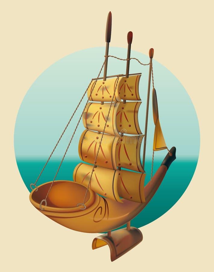 Download Coucher du soleil illustration de vecteur. Illustration du voyage - 56476838