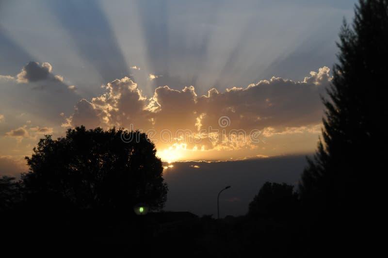 Coucher du soleil, images libres de droits