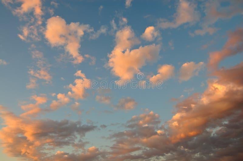 coucher du soleil abstrait de cloudscape images stock