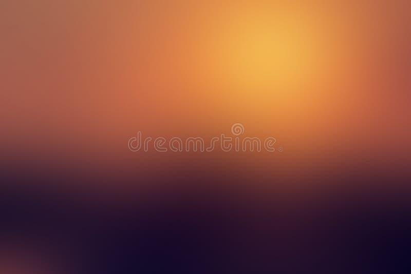 Coucher du soleil abstrait de fond de gradient, aube, le soleil, soirée, réflexion, rayons, chaleur, agrément, avec l'espace de c illustration libre de droits