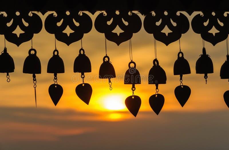 Coucher du soleil antique de cloche photographie stock libre de droits