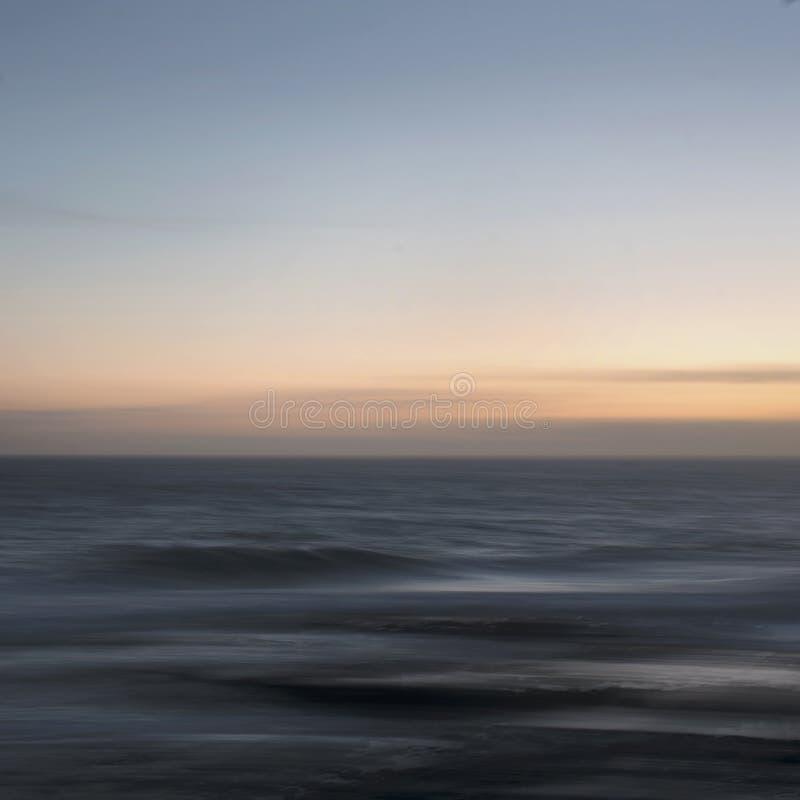 Coucher du soleil atlantique abstrait images libres de droits