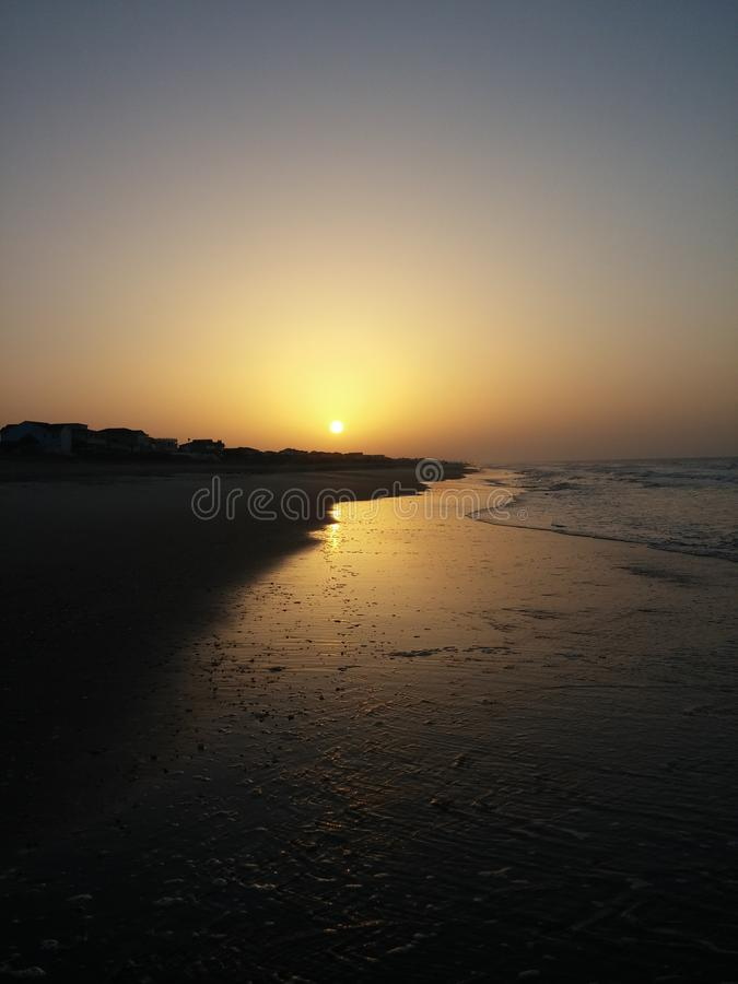 coucher du soleil atlantique image stock