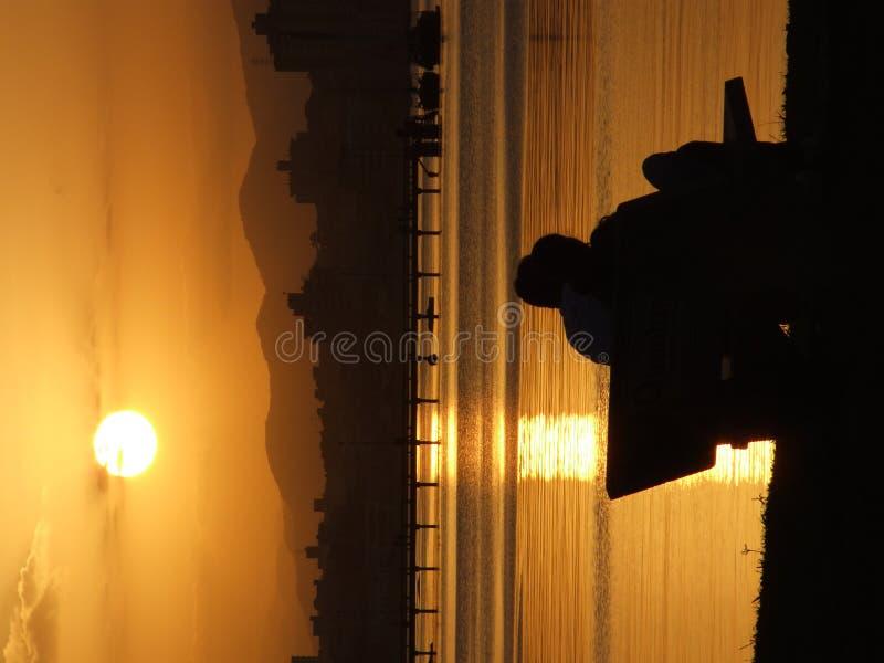 Coucher du soleil au Brésil photographie stock libre de droits