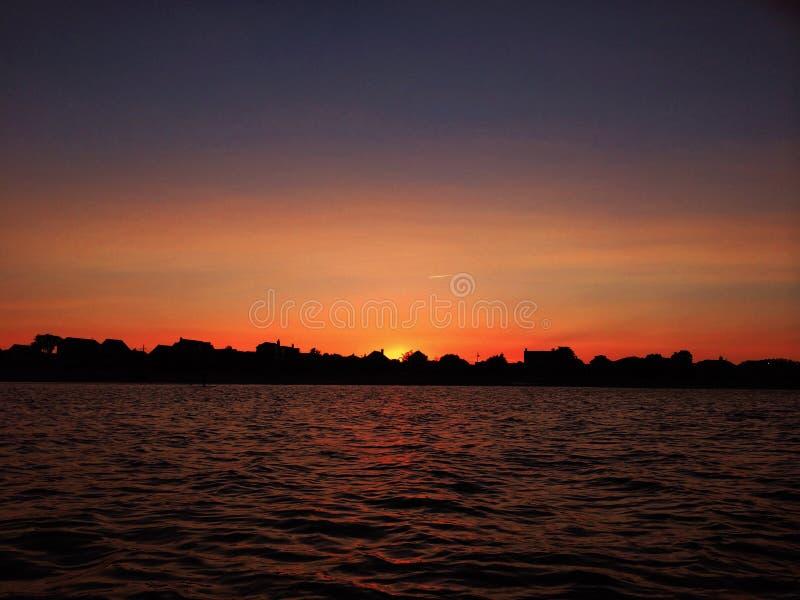 Coucher du soleil au-dessus de Fairfield photographie stock