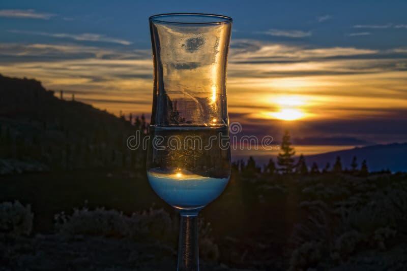 Coucher du soleil au-dessus de La Palma Canaries image libre de droits