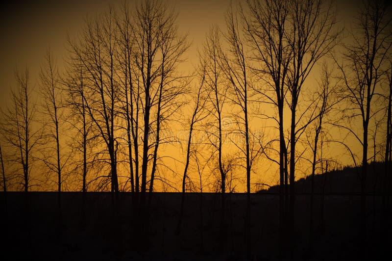 Coucher du soleil au-dessus de Sandpoint photographie stock libre de droits
