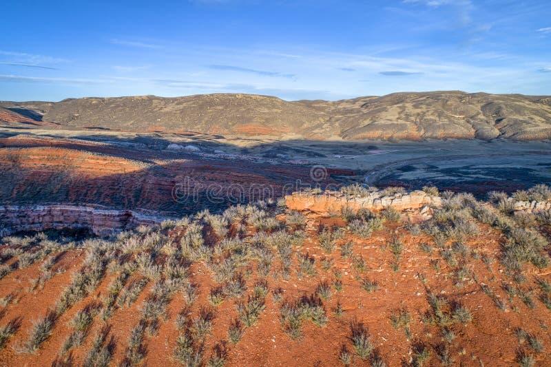 Coucher du soleil au-dessus des collines du Colorado photos libres de droits
