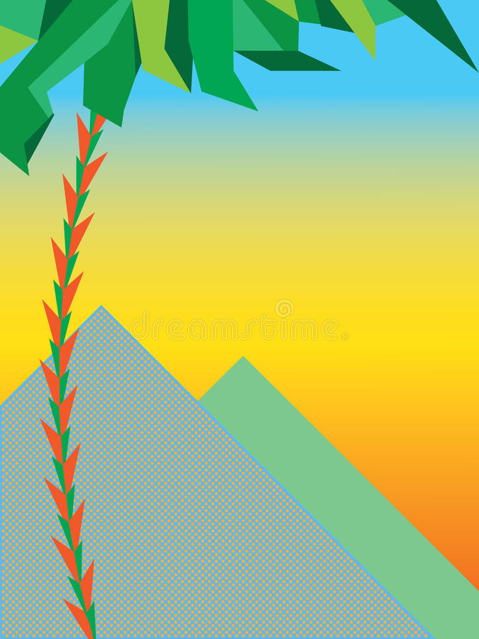Coucher du soleil au-dessus des pyramides image libre de droits