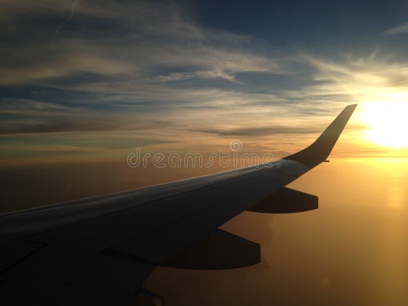 Coucher du soleil au-dessus du méditerranéen photos stock