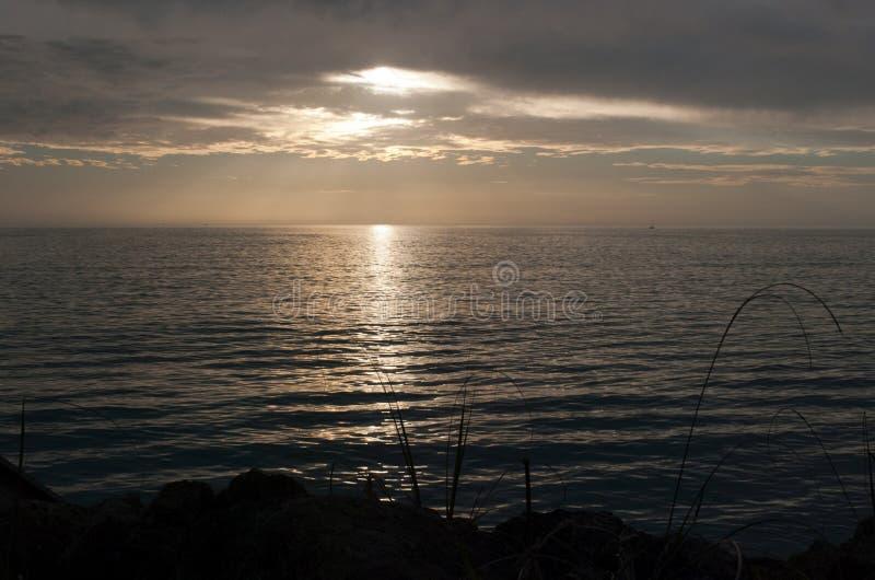 Coucher du soleil au-dessus du Golfe du Mexique photographie stock