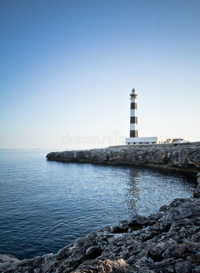 Coucher du soleil au phare photographie stock libre de droits