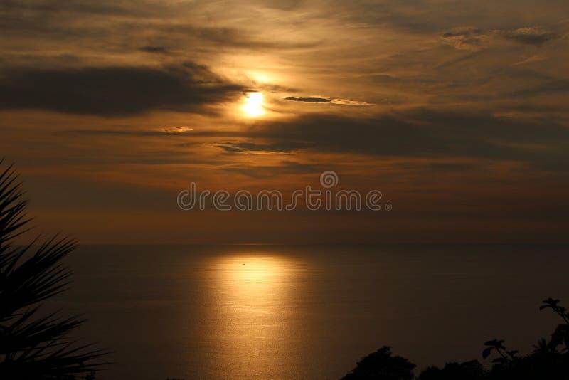 Coucher du soleil au point de vue de Karon photo stock
