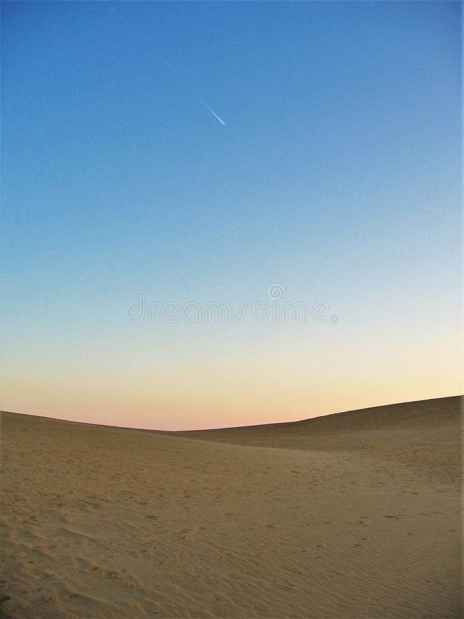 Coucher du soleil au ` s Ridge de jockey image libre de droits