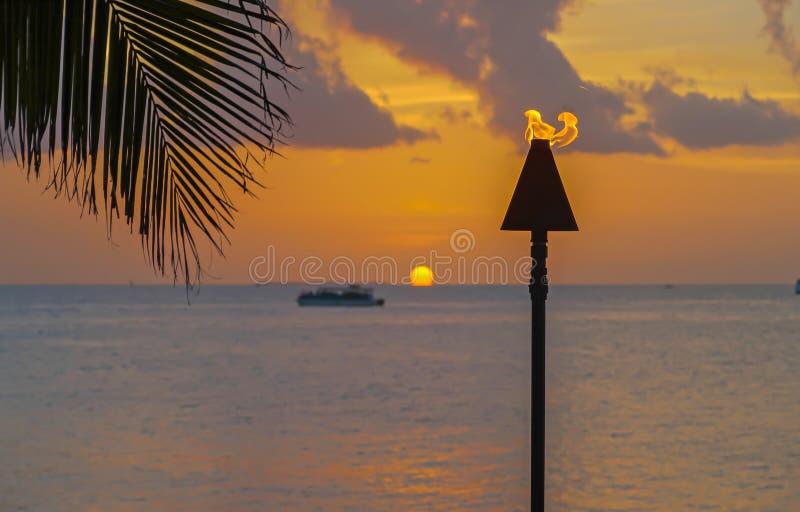 Coucher du soleil aux clés de la Floride photo libre de droits