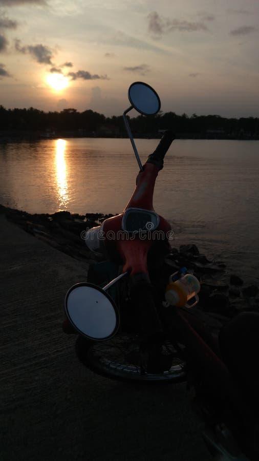 Coucher du soleil avec mon C70 photos stock