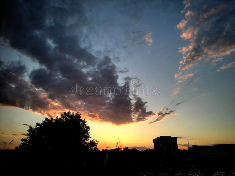 coucher du soleil chaud photographie stock