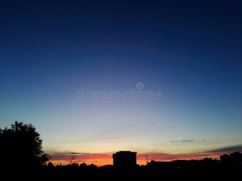 coucher du soleil chaud image libre de droits