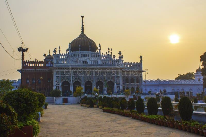 Coucher du soleil chez Chhota Imambara, Lucknow photos stock