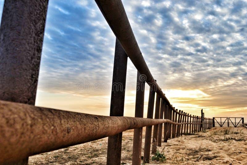Coucher du soleil chez l'Alentejo Portugal photographie stock libre de droits