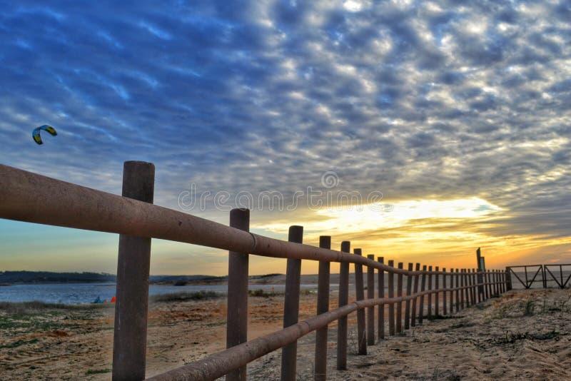 Coucher du soleil chez l'Alentejo Portugal images libres de droits