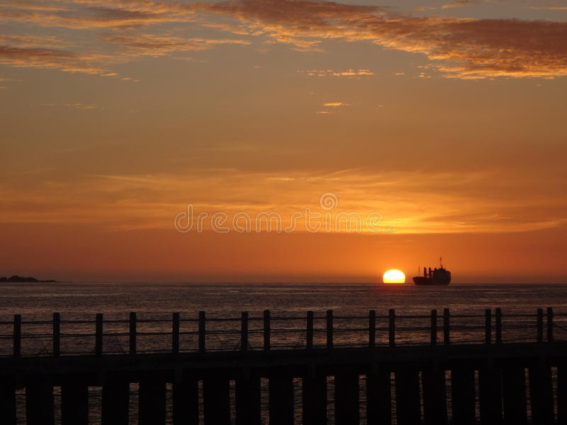 Coucher du soleil chez le Paseo photographie stock