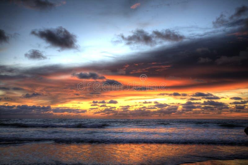 Coucher du soleil chez Pangkor photographie stock libre de droits