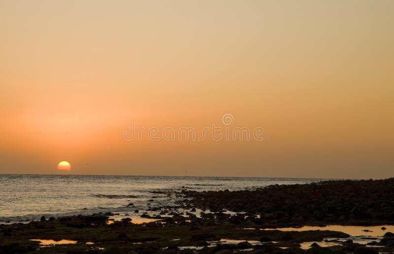 Coucher du soleil chez Puerto Penasco, Mexique image libre de droits